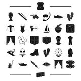 Furniture, sport, equipment and other web icon in black style. recreation, agriculture icons in set collection. Stock Photography