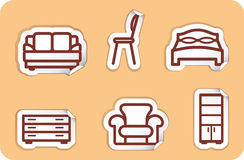 Furniture stickers Royalty Free Stock Image