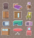 Furniture stickers. Cartoon vector illustration Stock Images