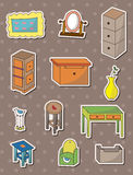 Furniture stickers. Cartoon vector illustration Royalty Free Stock Photography