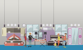 Furniture store concept vector illustration in flat style Royalty Free Stock Photo