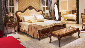 trendy bedroom furniture store Royalty Free Stock Photos