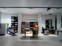 Furniture store interior designer buro with multiple accessories royalty free stock image
