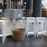 Furniture on street market Royalty Free Stock Images