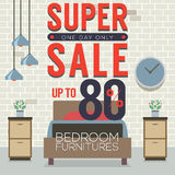 Furniture Super Sale Up to 80 Percent. Royalty Free Stock Image