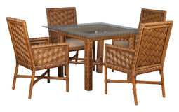 Furniture for a terrace. Furniture of rotang, exotic furniture, furniture for rest, Furniture for a terrace Royalty Free Stock Images