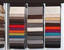 Furniture textile samples Royalty Free Stock Photos