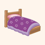 Furniture theme bed elements vector,eps Stock Photos