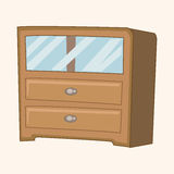 Furniture theme cabinet elements vector,eps. Vector illustration file Royalty Free Stock Photo