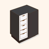 Furniture theme cabinet elements vector,eps Royalty Free Stock Photography