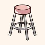Furniture theme chair sofa elements vector,eps Stock Photos