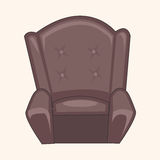Furniture theme chair sofa elements vector,eps Royalty Free Stock Photography