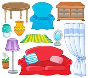 Furniture theme collection 1 vector illustration