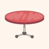 Furniture theme table desk elements vector,eps Stock Photos