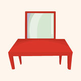 Furniture theme table desk elements vector,eps Royalty Free Stock Photos