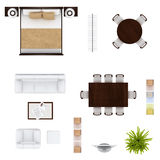 Furniture top view Royalty Free Stock Images