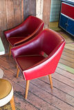 Furniture - two red chairs Royalty Free Stock Images