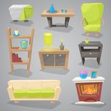 Furniture vector furnishings design of couch and sofa in furnished interior or armchair with chair for decoration in. Furniture vector furnishings design of sofa Royalty Free Stock Photos