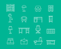 Furniture vector icons Stock Photos