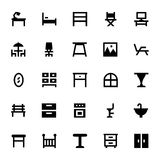 Furniture Vector Icons 2 Stock Photography
