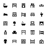 Furniture Vector Icons 5 Stock Photo