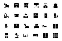 Furniture Vector Icons 3 Royalty Free Stock Images