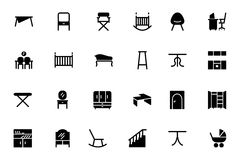 Furniture Vector Icons 4 Royalty Free Stock Photography