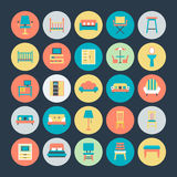 Furniture Vector Icons 2. Get for your next Furniture Vector Icons Set that are great for your home decoration, interiors, furniture, sitting, living room and Royalty Free Stock Photography