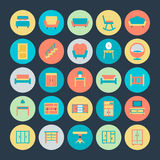 Furniture Vector Icons 4. Get for your next Furniture Vector Icons Set that are great for your home decoration, interiors, furniture, sitting, living room and Royalty Free Stock Images
