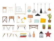 Furniture vector room interior design apartment home decor concept flat contemporary furniture architecture indoor. Elements illustration vector illustration