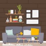 Furniture vector room interior design apartment home decor concept flat contemporary furniture architecture indoor. Elements illustration stock illustration