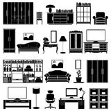 Furniture vector set Stock Photo