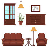 Furniture vector set Stock Photography