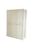 furniture vestuário da Três-seção isolado no branco, com trajeto de grampeamento foto de stock royalty free