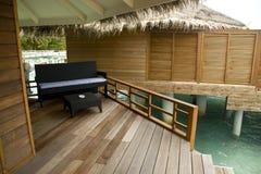 Furniture in a villa of Maldives Stock Photo