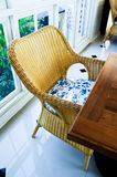 Furniture weave bamboo chair Royalty Free Stock Photos