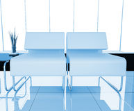 Furniture at white office Royalty Free Stock Photo