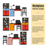 Furniture for workplace infographic Royalty Free Stock Image