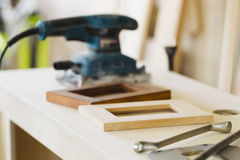 Furniture workshop, woodworking shop, interior Stock Images