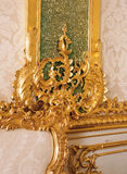 Furnitures details at Tsarskoye Selo Pushkin Palace Stock Photos