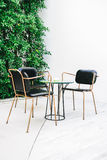 Furnitures with empty chair and table Royalty Free Stock Photos