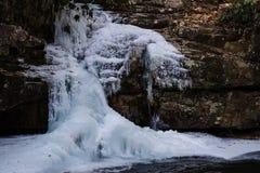 Furo azul congelado Tennessee da cachoeira Imagem de Stock
