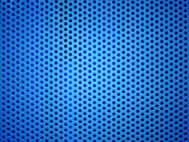 Furo azul do metal ou fundo perfurado da grade imagem de stock royalty free