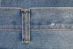 furo da correia das calças de brim para o teste padrão Fotografia de Stock