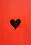 Furo dado forma coração Imagem de Stock Royalty Free