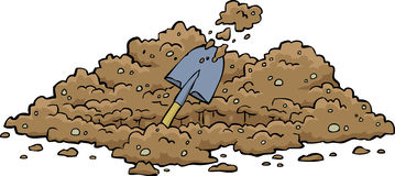Furo de escavação ilustração royalty free