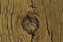 Furo de nó na madeira fotografia de stock royalty free