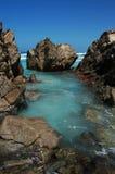 Furo de natação em baías gêmeas Imagens de Stock