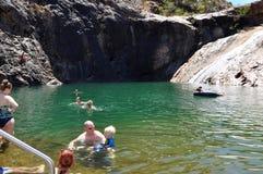 Furo de natação natural: Serpentine Falls Imagens de Stock