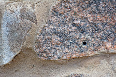 Furo de Srew na pedra Imagem de Stock
